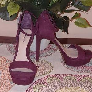 New Gianni Bini Wine Colored Heels